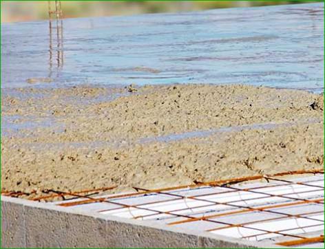 sable CARRIERES CHOUVET dalle béton